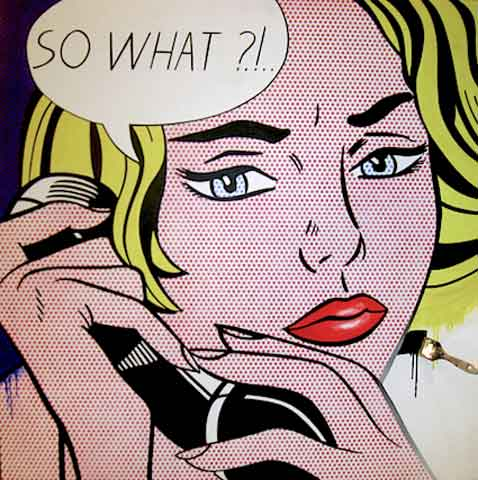 So What by Roy Lichtenstein